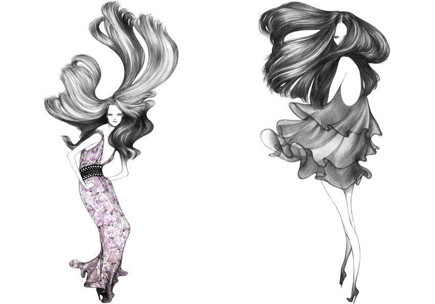 Аниме девочки модные